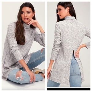 Free People Stone Cold Tunic Length Turtleneck NEW